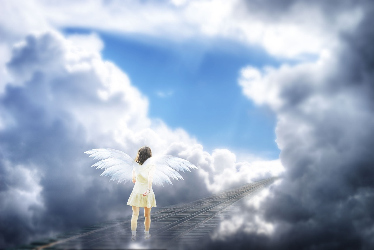 天国へ行く天使